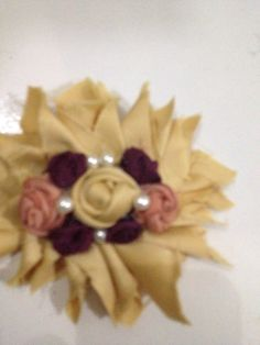 Shabby brooch for hijab accessories... Baby headband
