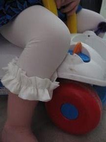 Tutorial: Ruffle capri tights for little girls