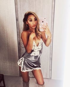Browse the latest fashion trends, & more! My Life As Eva, Eva Gutowski, Dope Outfits, Pretty Face, Latest Fashion Trends, Celebrity Style, Party Dress, White Dress, Bodycon Dress