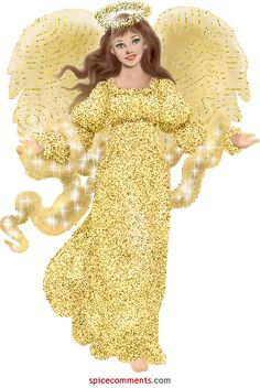 Stunning image - - from the clip art category animated Angels gifs & images! Glitter Gif, Glitter Images, Gold Glitter, Angel Images, Angel Pictures, Gif Pictures, Cute Images, Images Gif, Bing Images