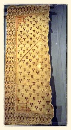 Cintamani Rug ( fragment ).  West Anatolia, mid-17th c.                 Brukenthal National Museum.
