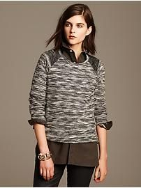 Cropped Tweed Pullover