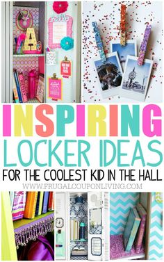 Fun and creative locker ideas for the coolest kid in the hall. School locker organization DIY on Frugal Coupon Living for Middle and High Schoolers.