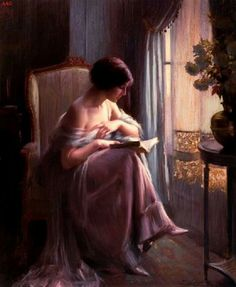 Dolphin Enjolras (1865-1945) Reading by the window