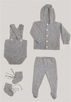 1415: Modell 9 Raglanjakke, kort sparkebukse, lang sparkebukse, sokker #baby #knit #strikk