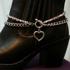 Boot Bling Bracelet Anklet Jewelry Chain Open Heart Charm Double Strand Beaded Cowboy Biker C… – Motorcycles Boot Jewelry, Jewelry Tags, Anklet Jewelry, Anklets, Gold Anklet, Beach Jewelry, Diy Jewelry, How To Make Boots, Boot Bracelet
