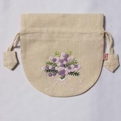 ミモザ花束 紫