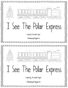 I created this Polar Express emerget reader to use on Polar Express Day or week! Students read familiar sight words and can color the pictures. Two books per page.super easy to make! Polar Express Activities, Polar Express Theme, Daily 5, Preschool Christmas, Christmas Activities, Christmas Ideas, Kindergarten Literacy, Daycare Curriculum, Homeschool
