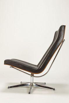 Leather Easy Chair Attr. to Javier Carvajal - okay art