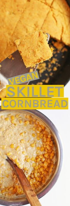 A delicious and slightly sweet #vegan cornbread for your holiday meals.