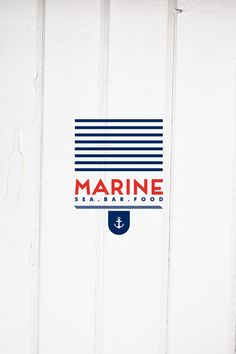 MARINE sea.bar.food identity by Cursor Design, via Behance