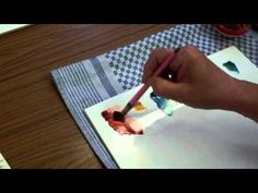 ▶ Porcelain Painting -Chris Ryder -Impressionistic Poppy Stage 2 - YouTube
