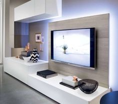 Mobile tv www.it img soggiorni Living Room Tv, Home And Living, Living Spaces, Tv Wall Design, House Design, Modern Tv Wall Units, Tv Wall Decor, Living Room Designs, Family Room