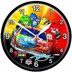Free S/H NASCAR Kyle Busch Round Clock