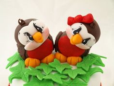 *SORRY, no information as to product used ~ Love bird Christmas...Fondant...