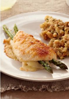 Parmesan-Crusted Stuffed Chicken – You couldn't get to a restaurant and be served in the short amount of time it takes to make this easy, elegant Parmesan-crusted chicken dish.
