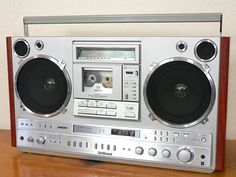 Vintage boombox ghettoblaster. National RX-7200.....................Please save this pin.   .............................. Because for vintage collectibles - Click on the following link!.. http://www.ebay.com/usr/prestige_online