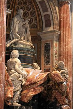 Bernini's last work in the St. Peter's Basilica, The tomb of Pope Alexander VII, Vatican (by Hornplayer).