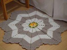 Resultado de imagem para tapete croche redondo