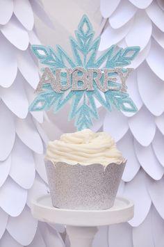 Frozen or Winter Wonderland theme Snowflake by HOCDesignsMarket, $30.00