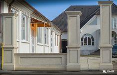 idei garduri marmura,granit si travertin GVB Stone Division Division, Garage Doors, New Homes, Windows, Stone, Outdoor Decor, Home Decor, Travertine, Rock