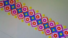 Beautiful rangoli border design using bangles