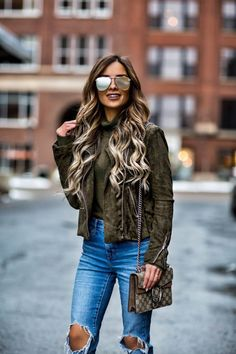 JANUARY 27TH, 2017 BY MARIA Q&A Friday: This Week's Top 10 Q's Answered - Similar Suede Jacket // Nasty Gal Bodysuit // Levi's Jeans // Asos Triple Buckle Booties // Gucci Dionysus Bag // Le Specs 'The Prince' Sunglasses