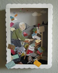 Three-Dimensional Paper Works by Jayme McGowan, aka Roadside Projects      Jayme McGowan: blog Jayme McGowan:  etsy Jayme McGowan: flickr  Found Via Rag and Bone, great blog, check it out!