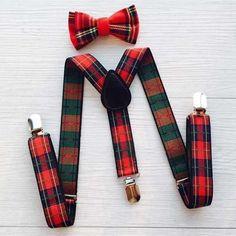 Adjustable Suspenders w/ Bowtie