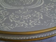 great chalk paint stencil table top