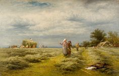 Haymaking by Benjamin Williams Leader Sandwell Museums Service Collection Date painted: 1876 Oil on canvas, 76 x 137 cm Collection: Sandwell Museums Service Collection Buy Prints Online, Framed Postcards, History Posters, Personalised Prints, Framed Prints, Canvas Prints, Art Uk, Your Paintings, Oil On Canvas