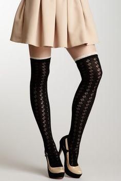 Lace Trim Boot Sock