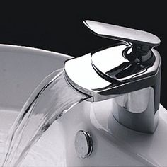 LightInTheBox Contemprary Single Handle Waterfall Bathroom Vanity Faucet, Chrome by LightInTheBox, http://www.amazon.com 46.99