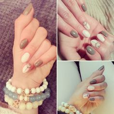 #homenails #love #semilacnails #new #hibrid #grey #biscuit #nails #instanails #instagril #semilac