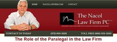 The Role of the Paralegal in the Law Firm http://www.nacollawfirmblog.com/about-the-nacol-law-firm-pc/the-role-of-the-paralegal-in-the-law-firm
