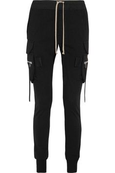 Rick Owens - Cotton Tapered Pants - Black