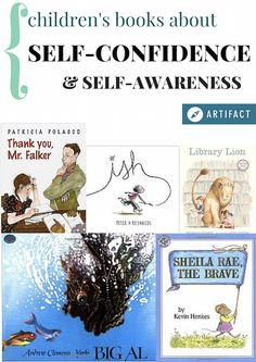 A collection of 13 books for kids tagged self-awareness and confidence.
