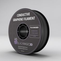 Graphene Lab Inc. (Calverton, NY) has introduced an electrically conductive and flexible filament for printing from thermoplastic graphene. The graphene-enhanced thermoplastic polyurethane (TPU) material. 3d Printing Diy, 3d Printing Materials, 3d Printing Service, 3d Filament, 3d Printer Filament, Best 3d Printer, Electrical Projects, Homemade 3d Printer, 3d Printer Projects