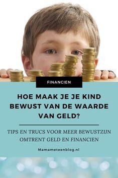 Hoe leer je je kind de waarde van geld! Een les die je je leven kan gebruiken! mamameteenblog.nl #geldzaken #budget #sparen Budget Planer, All Family, Saving Money, Budgeting, Blogger Tips, Wordpress, Stress, Messages, Inspiration