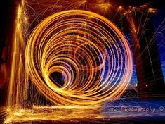 How to Create a Light Painting Vortex Using a DIY Reusable Steel Wool Cage « Photography