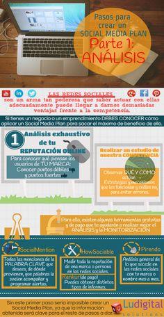Infografía Social Media Plan Análisis