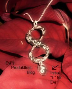 personalized infinity pendant. pendant with initial en infinity symbol. #infinity #personalized #pendant #jewelry #initial by www.namesforever.de . Review from EVI's Produkttestblog