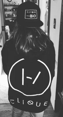 49c8b3eafbe Clique Back Black Hoodie Twenty One Pilots Sweatshirt