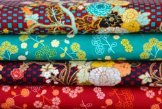 Pat Bravo Fabric 4 Fat Quarter Bundle INDIE by FreshFabricsAust, $15.50