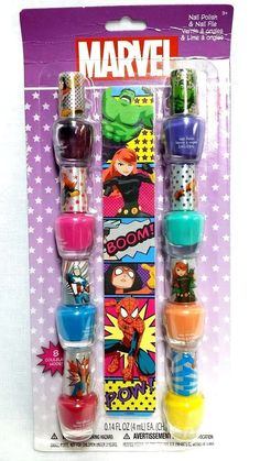 Marvel Avengers 8 Pack Nail Polish with Nail File - NEW/Factory Sealed #Marvel