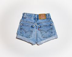 "ALL SIZES Vintage ""HERCULES"" High Waisted LEVI Denim Shorts"