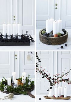 42 Advent wreath ideas – something for everyone – autumn decoration table decoration … - Dekoration