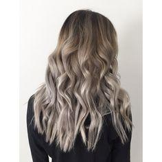 """After photo on a color correction of a yellow blonde Haircolor to a new fun #greytone #greyhair #hair #haircolor #color  by #mizzchoi @ramireztransalon…"""