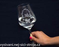 Leptání skla - Sklenice k výročí