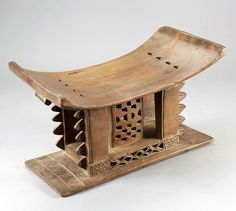 Africa   Stool from the Asante people of Ghana   Wood, honey brown patina